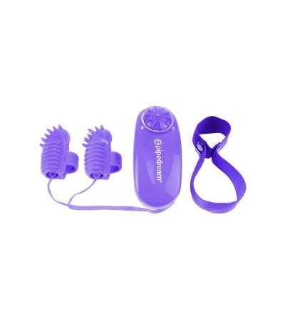 Neon Mini Vibradores para el Dedo Purpura