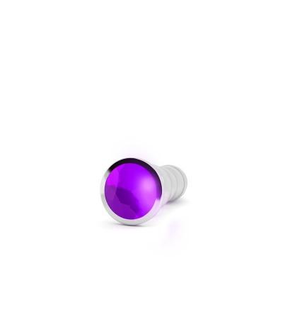 Shots Rich Plug Anal Purple Sapphire 125 cm Plateado