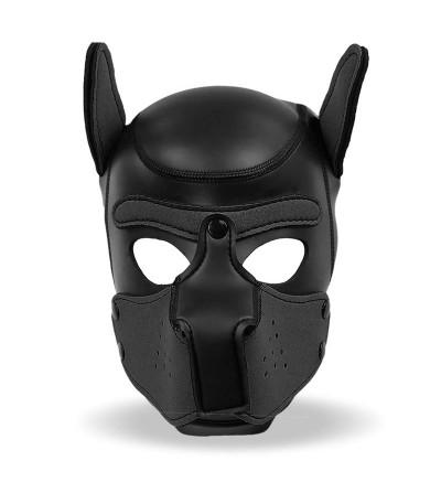 Mascara de Perro de Neopreno con Hocico Extraible Negro Talla M