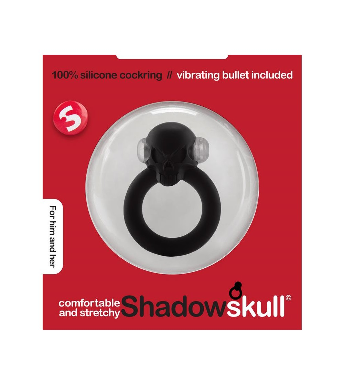 Shots S Line Shadow Skull Anillo para el Pene Negro