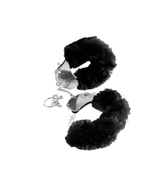 Fetish Fantasy Series Esposas de Peluches Originales Color Negro