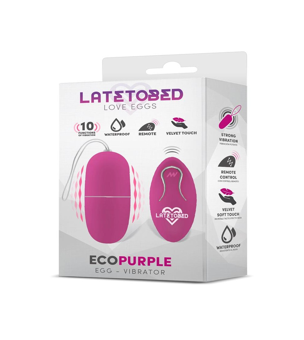 Ecopurple Huevo Vibrador con Control Remoto