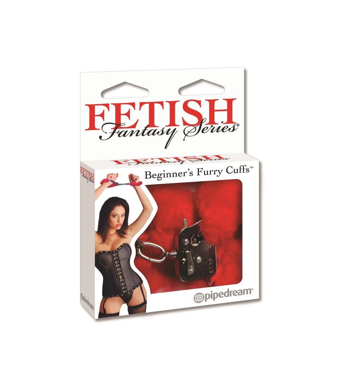 Fetish Fantasy Series Esposas de Peluche para Principiantes Color Rojo