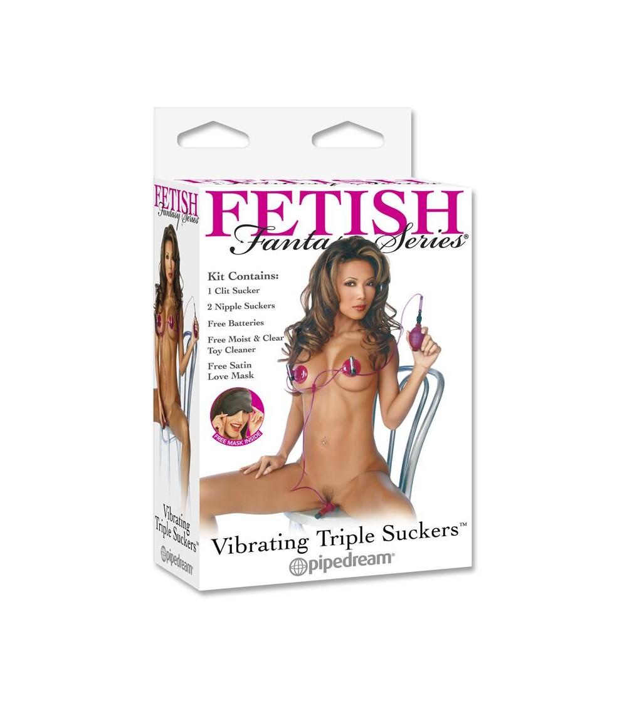 Fetish Fantasy Series Triple Succionador con Vibrador