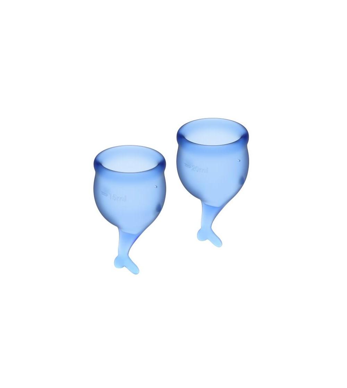 Copas Menstruales Feel Secure Dark Blue Pack de 2