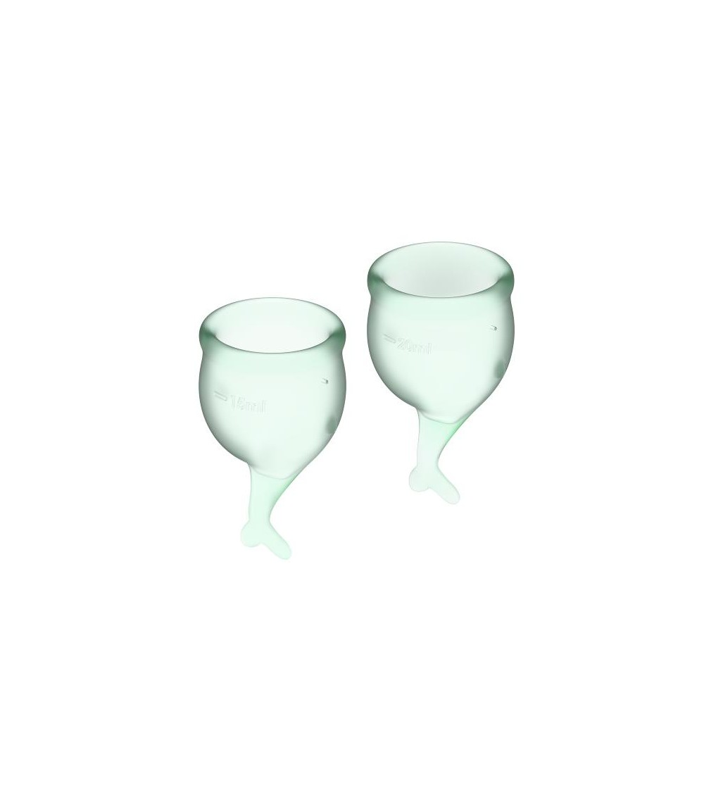 Copas Menstruales Feel Secure Light Green Pack de 2