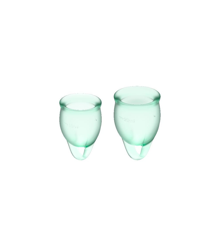Copas Menstruales Feel Confident Light Green Pack de 2