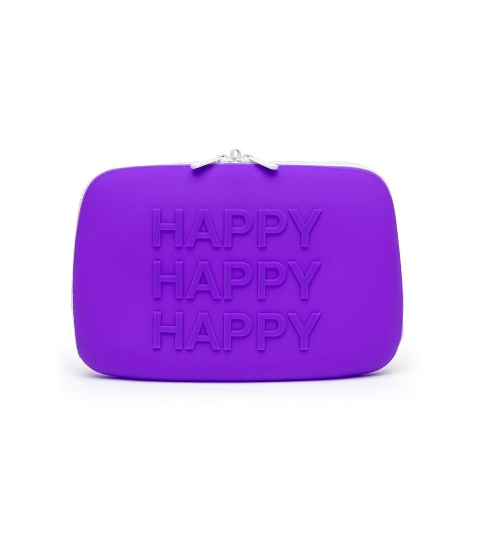 Estuche con Cremallera HAPPY Grande Purpura