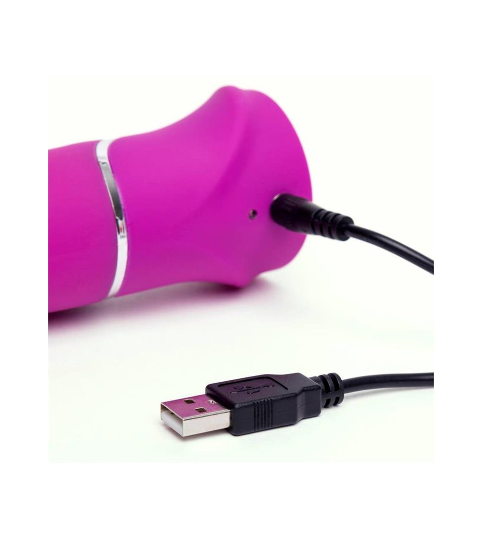 Vibrador Rotador Beaded Punto G Purpura