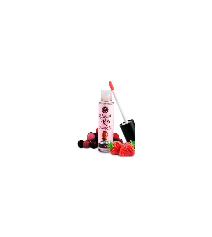 Lip Gloss Vibrant Kiss Sabor Chicle de fresa