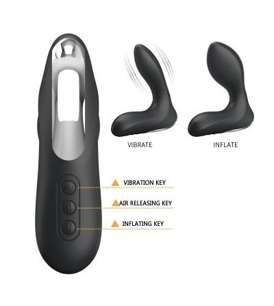 Estimlador Anal Inflable Leonard Silicona USB Negro