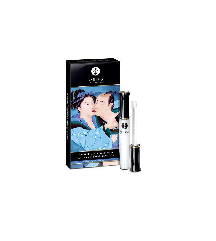 Shunga Gloss para Placer Oral Agua de Coco