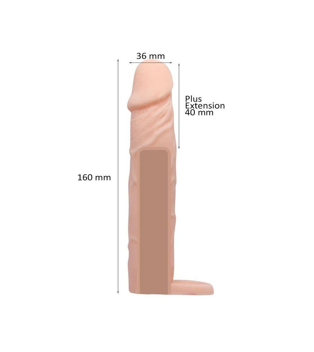 Mosee Funda para el Pene Impermeable 40 mm
