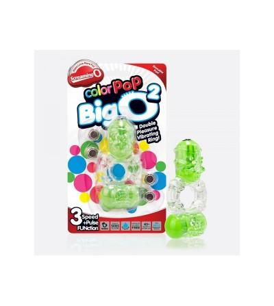 Anillo Vibrador Doble ColorPop Big O 2 Verde