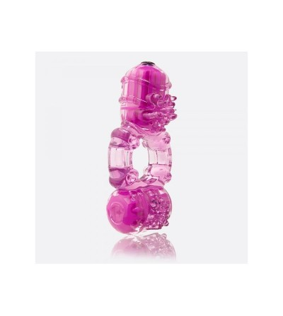 Anillo Vibrador Big O 2 Doble Purpura