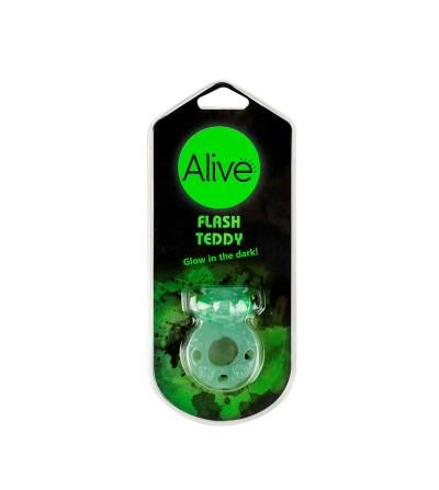 Anillo Vibrador Flash Teddy Verde Fluorescente