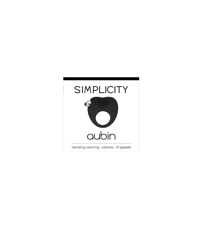 Shots Simplicity Anillo Vibrador AUBIN Negro