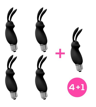 Pack 41 Hopye Bala Vibradora Conejito Silicona Negro