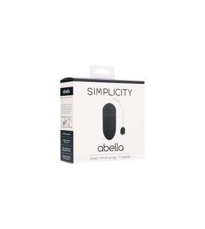 Shots Simplicity Huevo Vibrador Clasico ABELLA Negro