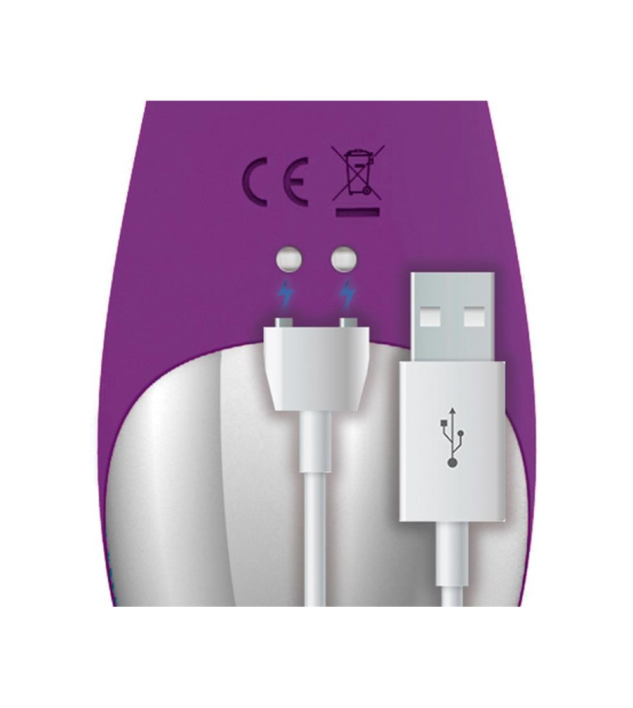 No Nine Vibrador Punto G Funcion de Pulsacion USB Magnetico Silicona