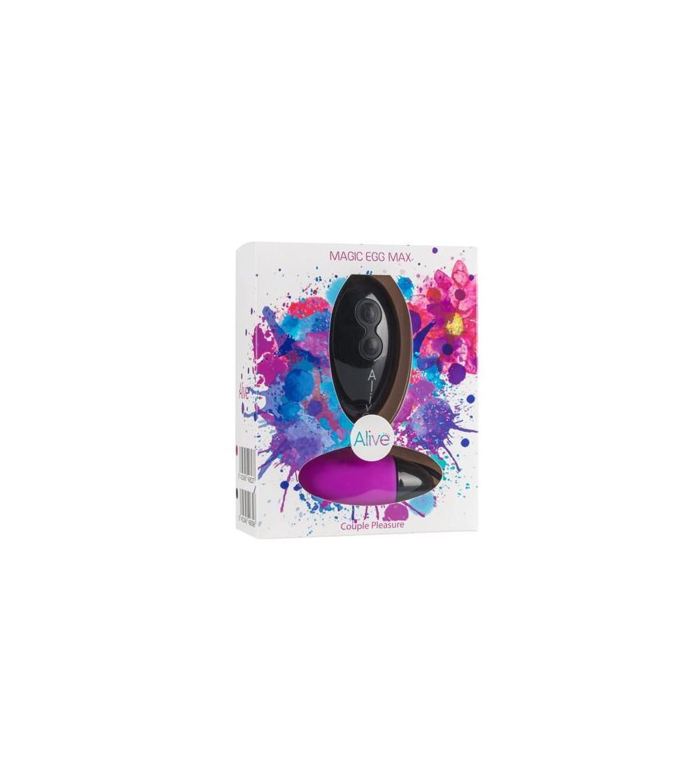 Huevo Vibrador Magic Egg Max Purpura Silicona 83 cm