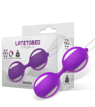 Misha Bola de Kegel Doble Silicona Purpura