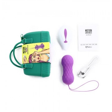 Huevo Vibrador Motion Love Balls con Control Remoto Twisty Purpura