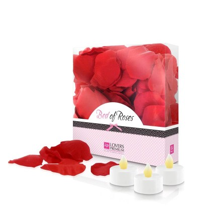 Loverspremium Cama de Rosas Color Rojo